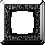 Рамка Gira ClassiX Art одноместная Хром-Чёрный 0211682
