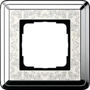Рамка Gira ClassiX Art одноместная Хром-кремовый 0211683