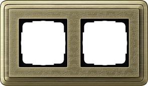 Рамка Gira ClassiX Art двухместная Бронза 0212661
