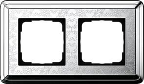 Рамка Gira ClassiX Art двухместная Хром 0212681