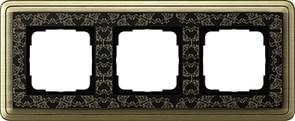 Рамка Gira ClassiX Art трехместная Бронза-Чёрный 0213662
