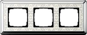 Рамка Gira ClassiX Art трехместная Хром-кремовый 0213683