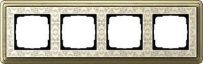 Рамка Gira ClassiX Art четырехместная Бронза-кремовый 0214663
