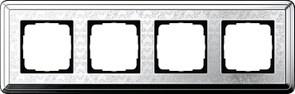 Рамка Gira ClassiX Art четырехместная Хром 0214681