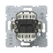 Двухклавишный переключатель (проходной), Berker Module inserts 303808