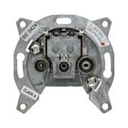Антенная розетка, 2 отверстия, отдельная, Berker Module inserts 4502