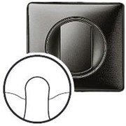 Комплект лицевой панели для вывода кабеля, Legrand Celiane цвет: графит