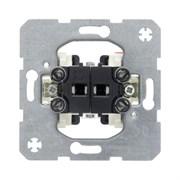 Двухклавишный выключатель Модульные механизмы 3035
