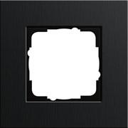 Рамка 1-пост, Gira Esprit Алюминий черного цвета 0211126