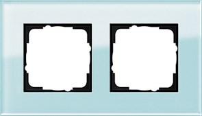 Рамка 2-пост, Gira Esprit Салатовое стекло