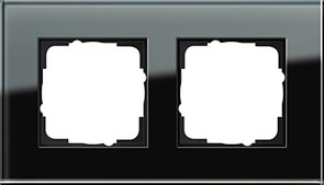 Рамка 2-пост, Gira Esprit Черное стекло