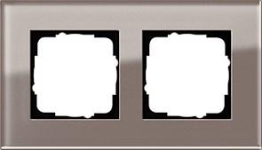 Рамка 2-пост, Gira Esprit Дымчатое стекло
