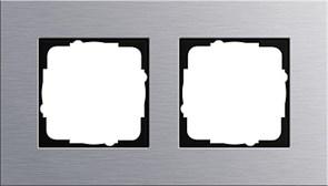 Рамка 2-пост, Gira Esprit Алюминий 021217