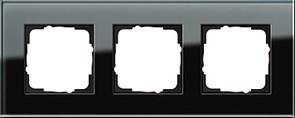 Рамка 3-пост, Gira Esprit Черное стекло