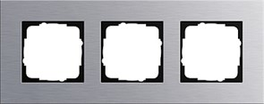 Рамка 3-пост, Gira Esprit Алюминий 021317