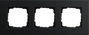 Рамка 3-пост, Gira Esprit Алюминий черного цвета 0213126