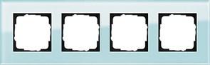 Рамка 4-пост, Gira Esprit Салатовое стекло 021418