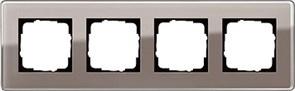 Рамка 4-пост, Gira Esprit Glass C дымчатое стекло 0214522