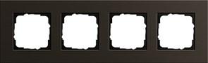 Рамка 4-пост, Gira Esprit Алюминий коричневого цвета