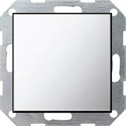 Заглушка с опорной пластиной Gira System 55 Хром 0268605