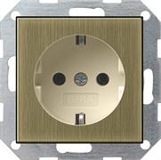 Розетка 16 А / 250 В~ Gira System 55 Бронза/Кремовый 0188613