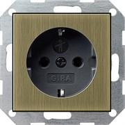 Розетка с защитой от детей 16 А / 250 В~ Gira System 55 Бронза/Чёрный 0453603