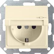 Розетка с откидной крышкой с защитой от детей Кремовый Gira 041401