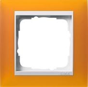 Рамка 1-пост для центральных вставок белого цвета, Gira Event Янтарный