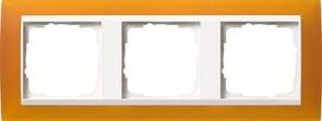 Рамка 3-пост для центральных вставок белого цвета, Gira Event Янтарный