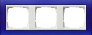 Рамка 3-пост для центральных вставок белого цвета, Gira Event Синий