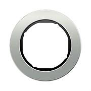 Рамкa 1-пост, Berker R.Classic, Материал: металл цвет: алюминий/Чёрный 10112084