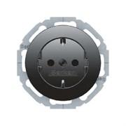Штепсельная розетка SCHUKO, Berker R.Classic цвет: Чёрный 47452045
