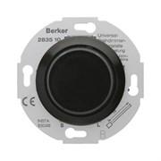 """Дополнительное устройство для универсального поворотного диммера с """"Soft""""-регулировкой, Berker 1930/Glasserie/Palazzo цвет: Чёрный, с блеском 283511"""
