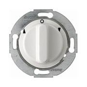 Жалюзийный поворотный выключатель с центральной панелью и вращающейся ручкой, Berker 1930/Glasserie/Palazzo цвет: полярная белизна, с блеском 3812