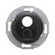 Механизм для малого штекерного разъема с центральной панелью, Berker 1930/Glasserie/Palazzo цвет: Чёрный, с блеском 450821