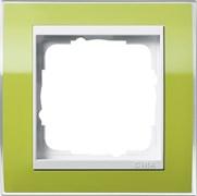 Рамка 1-пост, Gira Event Clear для центральных вставок белого цвета зеленый