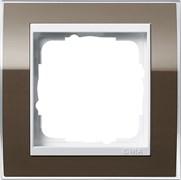 Рамка 1-пост, Gira Event Clear для центральных вставок белого цвета коричневый