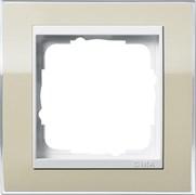 Рамка 1-пост, Gira Event Clear для центральных вставок белого цвета цвет песка