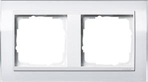 Рамка 2-пост, Gira Event Clear для центральных вставок белого цвета Белый