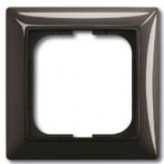 Рамка ABB Basic 55 с декоративной накладкой - одноместная (шато-Чёрный)