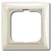 Рамка ABB Basic 55 с декоративной накладкой - одноместная (шале-белый)