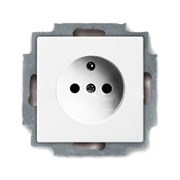 Розетка с центральным заземляющим контактом ABB Basic 55 (белый)