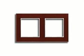Рамка двойная, для горизонтального/вертикального монтажа Jung A creation Красный AC582GLRT