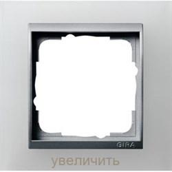 Рамка 1-пост для центральных вставок алюминий, Gira Event Белый - фото 11281