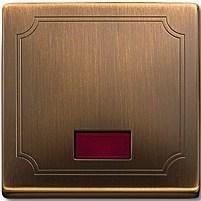 Клавиша для выключателя с подсветкой, Merten Antique цвет: античная латунь - фото 14605