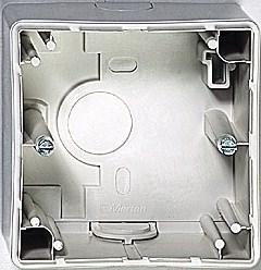 Коробка для наружного монтажа 1-пост., Merten Antique цвет: бежевый - фото 14619