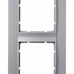 Рамка 2-поста вертикальная, Berker B.1 цвет: алюминий, матовый 10121404 - фото 3679