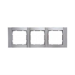 Рамка 3-поста горизонтальная, Berker B.1 цвет: алюминий, матовый 10231404 - фото 3680