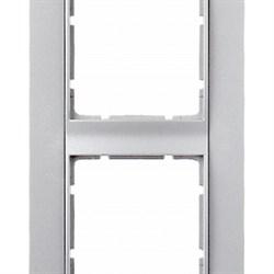 Рамка 4-поста вертикальная, Berker B.1 цвет: алюминий, матовый 10141404 - фото 3683