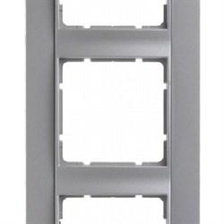 Рамка 5-постов вертикальная, Berker B.1 цвет: алюминий, матовый 10151404 - фото 3685